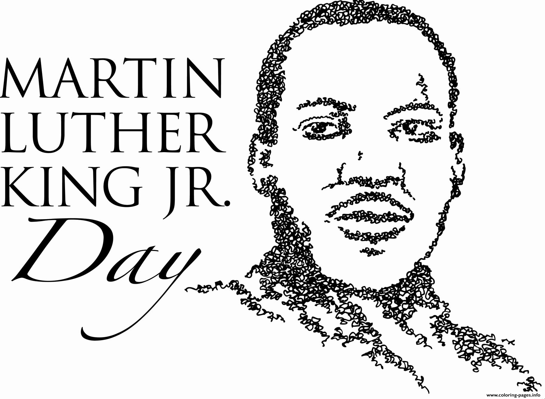- Martin Luther King Day Coloring Pages Printable