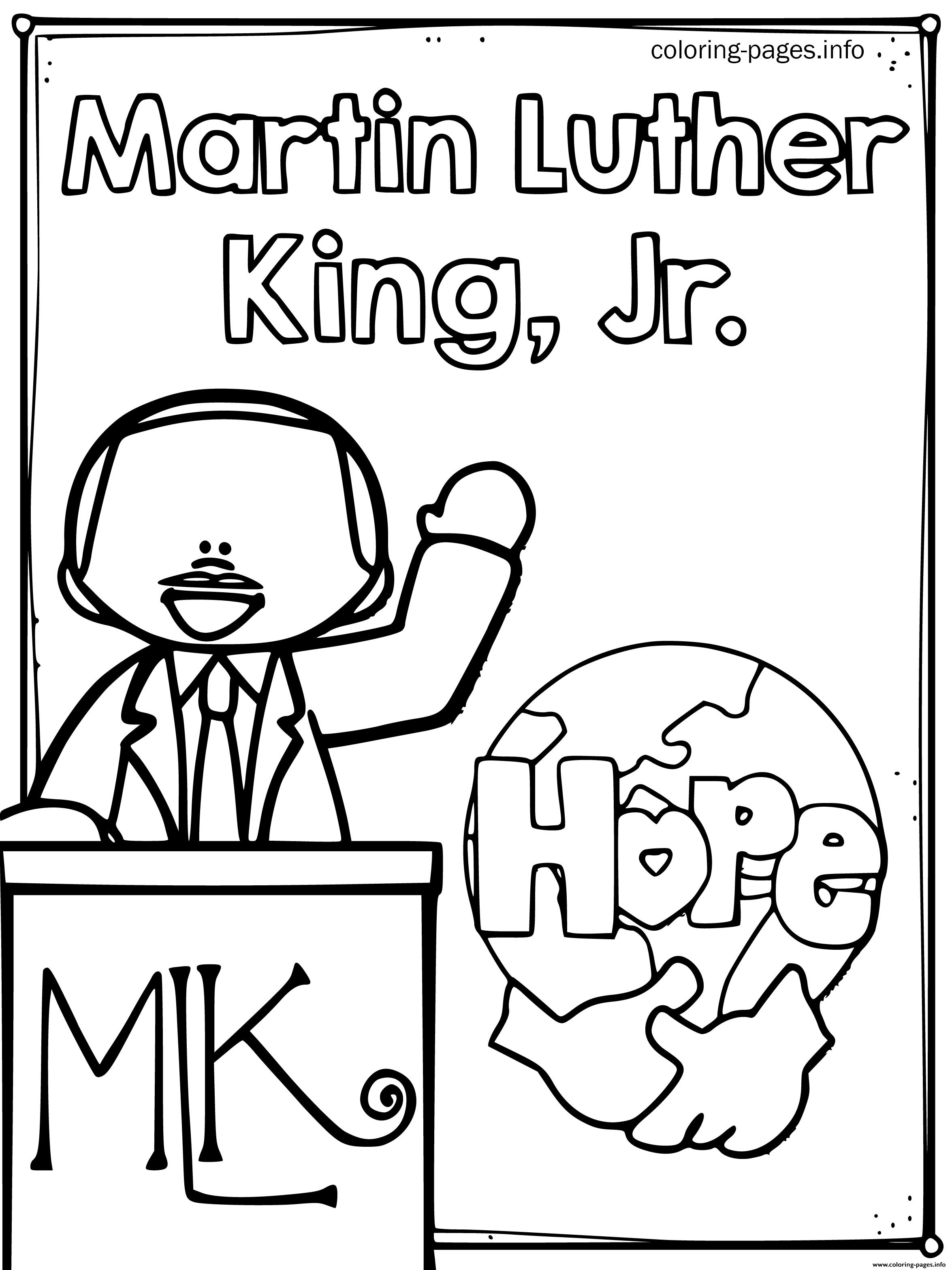 - Martin Luther King Jr Coloring Page Azspringtrainingexperience