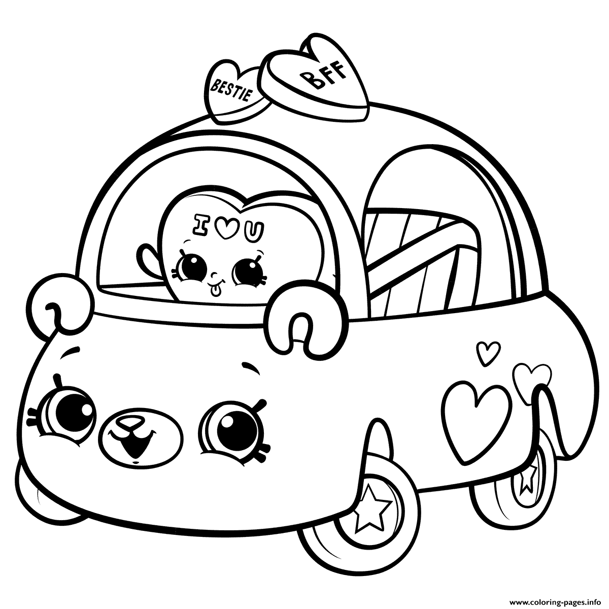 Coloring Pages For Girls: Cutie Cars For Girls Coloring Pages Printable