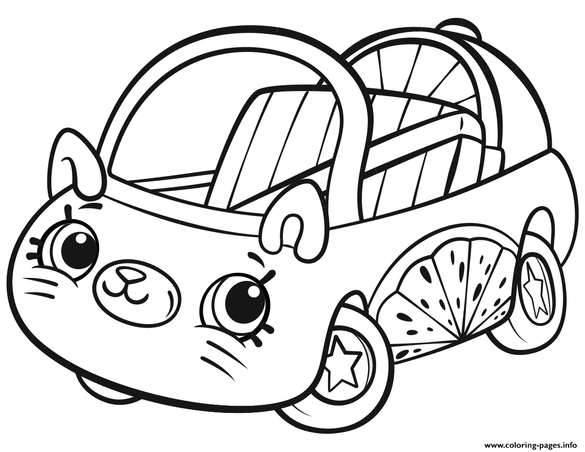 photo about Printable Shopkins Coloring Pages known as Cutie Cars and trucks Shopkins Coloring Web pages Printable