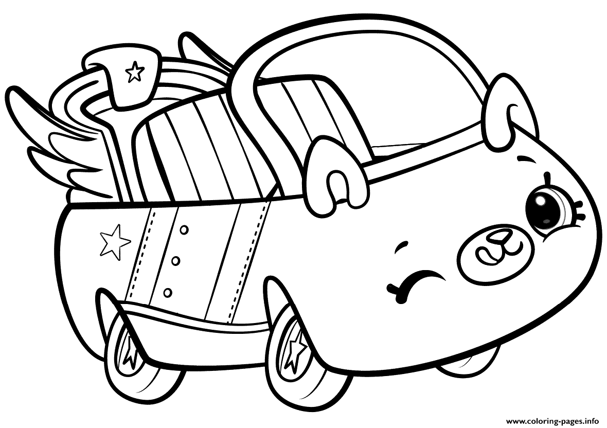 Shopkins Cutie Cars Coloring Pages Printable