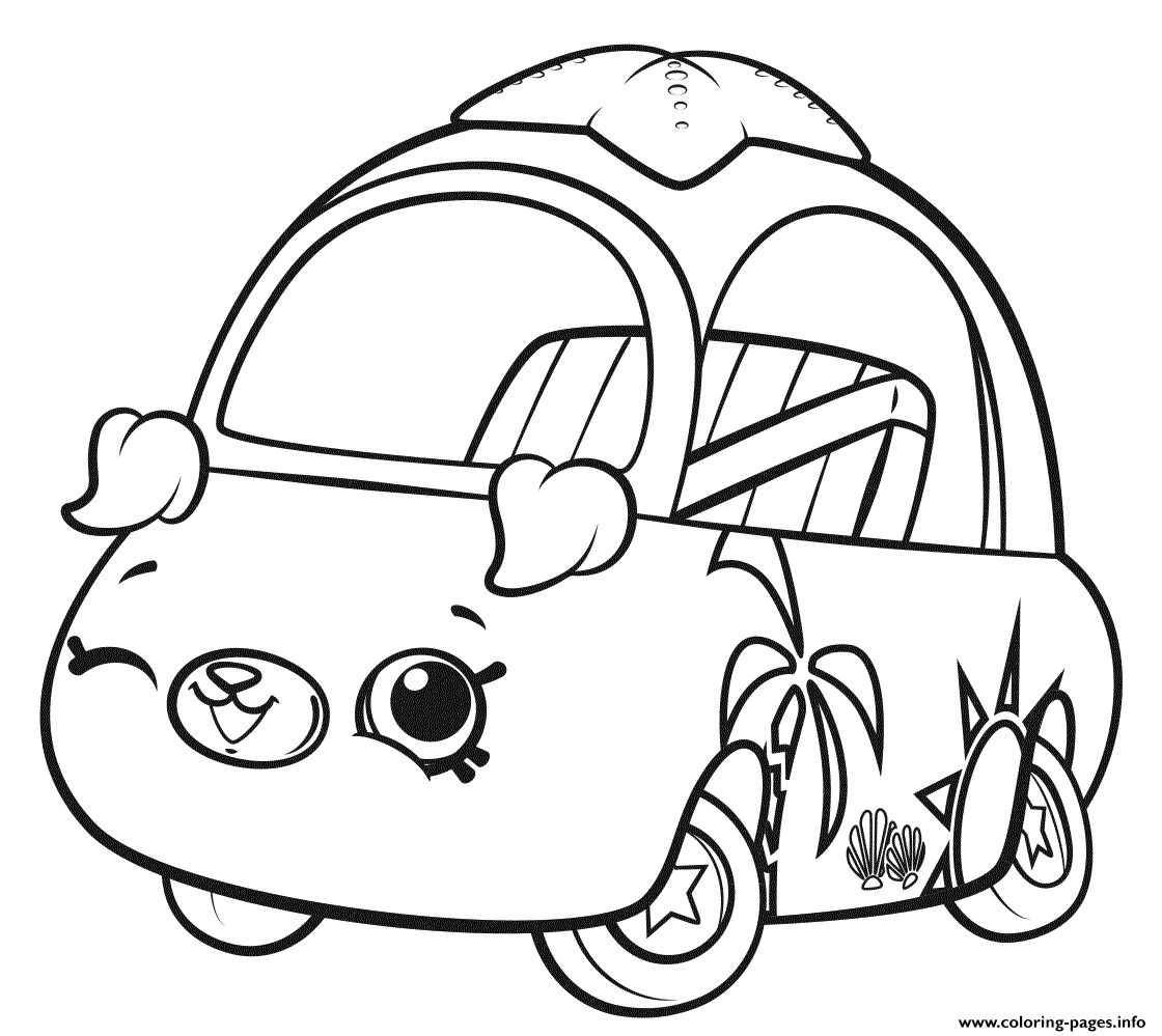 Shopkins Cutie Cars Wink Coloring Pages Printable