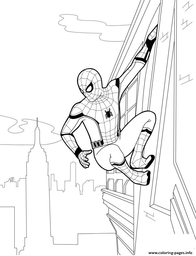 940 Spider Man Homecoming Coloring Pages Printable  Images