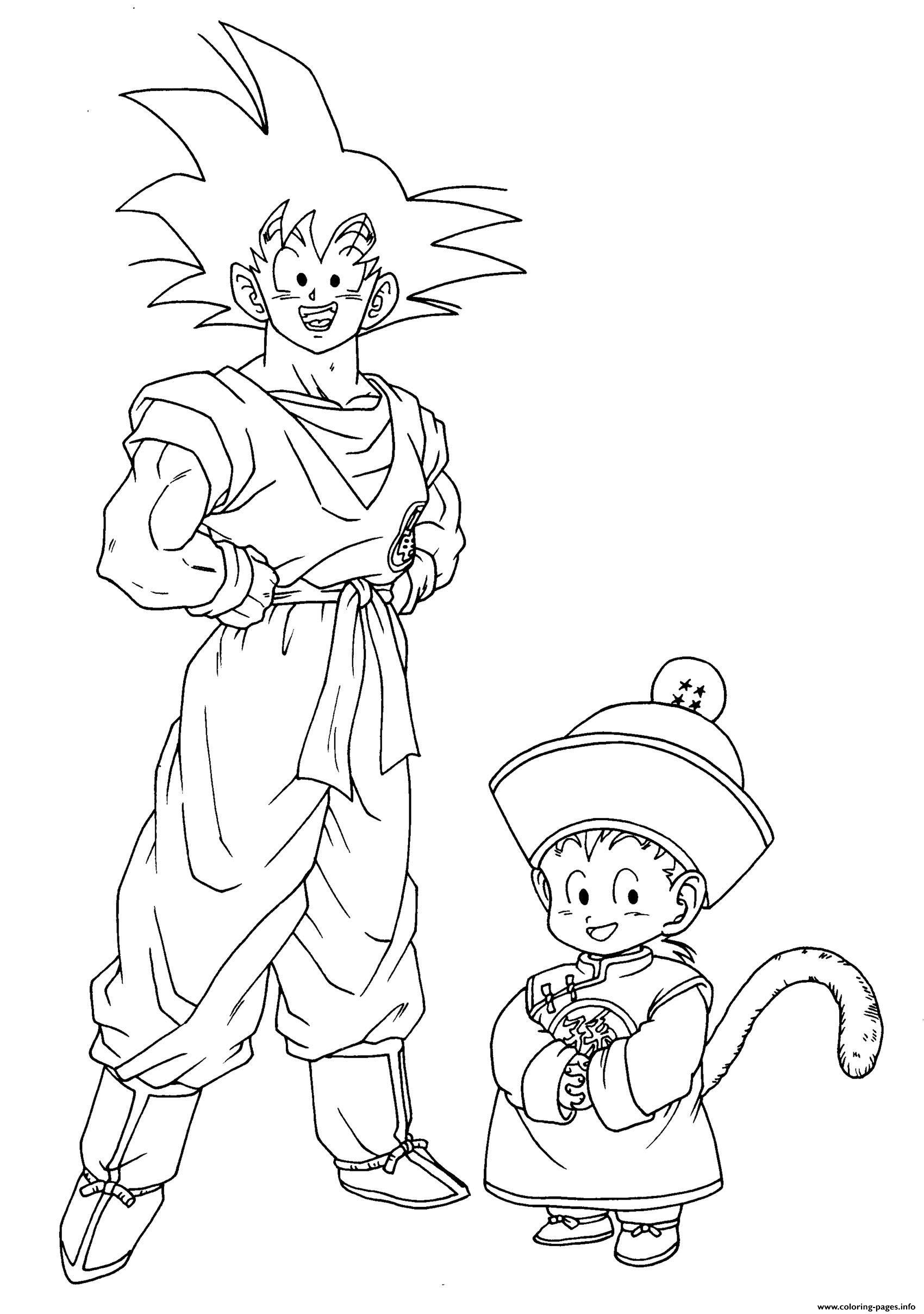 Anime Manga Dragon Ball Z Coloring Pages Printable
