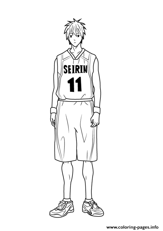 Tetsuya Kuroko From Kuroko No Basuke Coloring Pages Printable