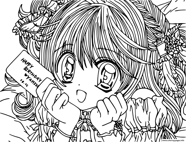 Anime Manga Girl Adult Coloring Pages Printable