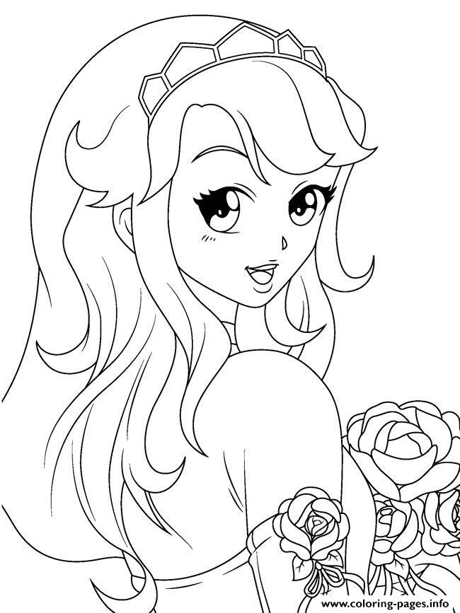 Anime Girl By Montzalee Wittmann coloring pages