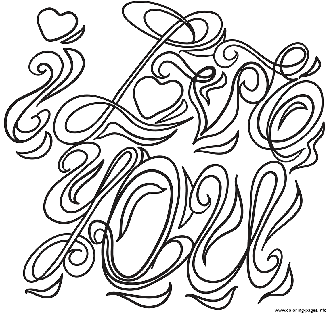 I Love You Coloring Pages To Print – Pusat Hobi