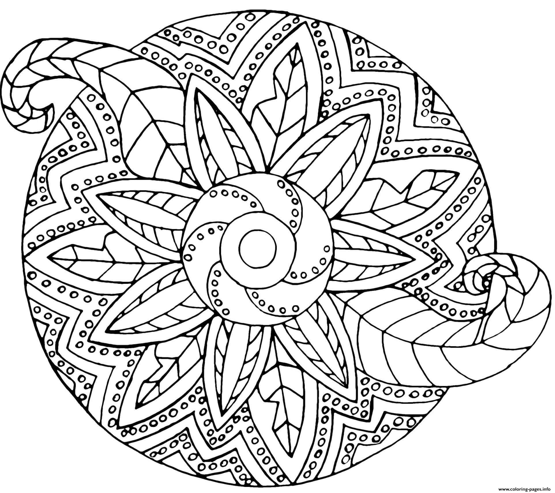 Mandala Zentangle Vegetal Coloring Pages Printable