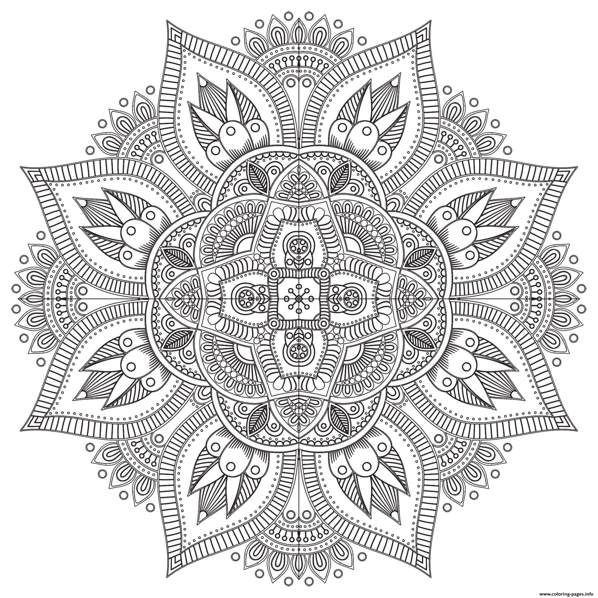 Mandala Zen Antistress Difficult coloring pages