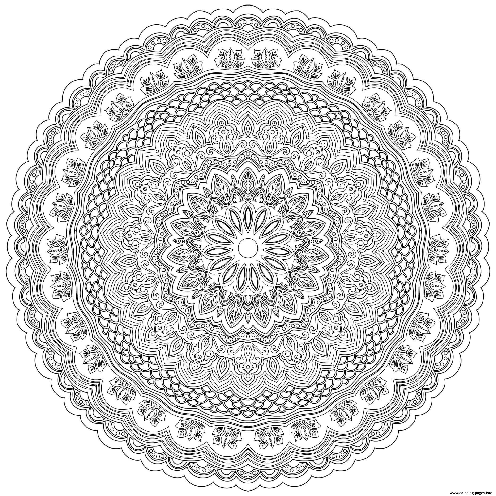 Mandala Zentangle Antistress Adult coloring pages