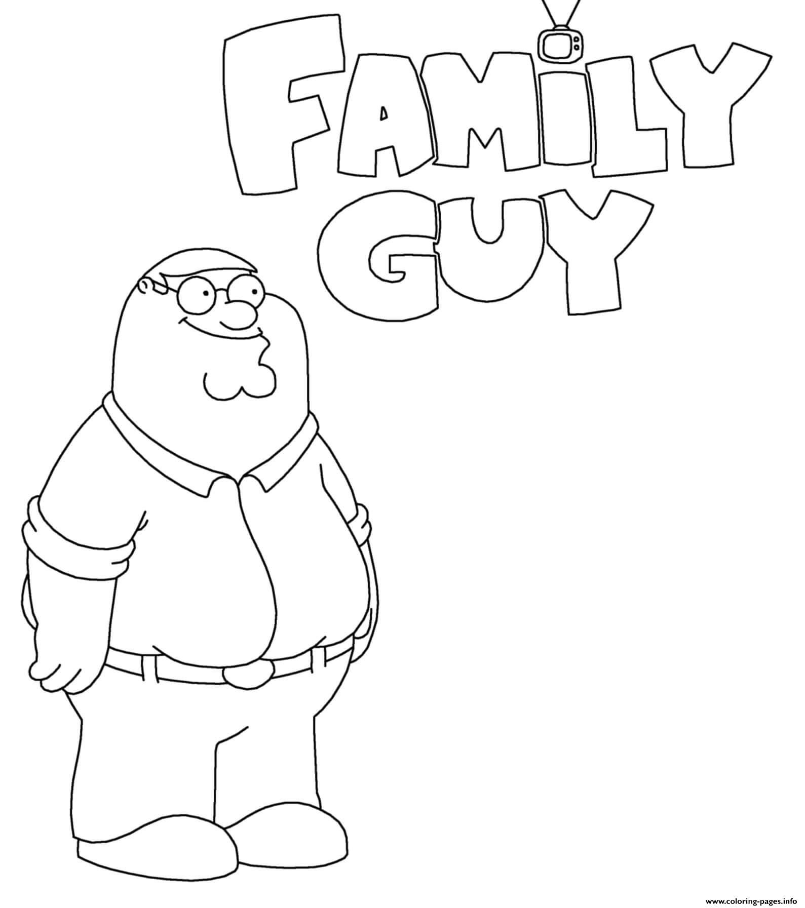 Family Guy Peter Griffin Cartoon coloring pages