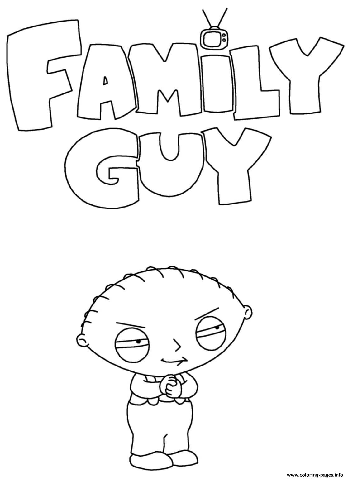 Family Guy Stewie Griffin Coloring Pages Printable
