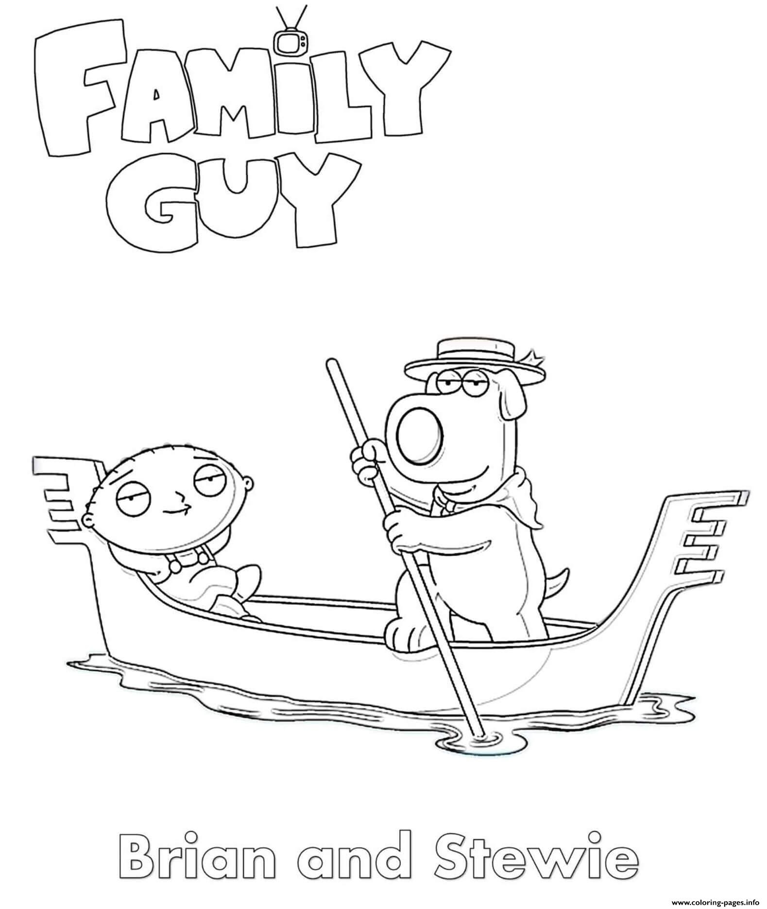 Family Guy Brian And Stewie Coloring Pages Printable