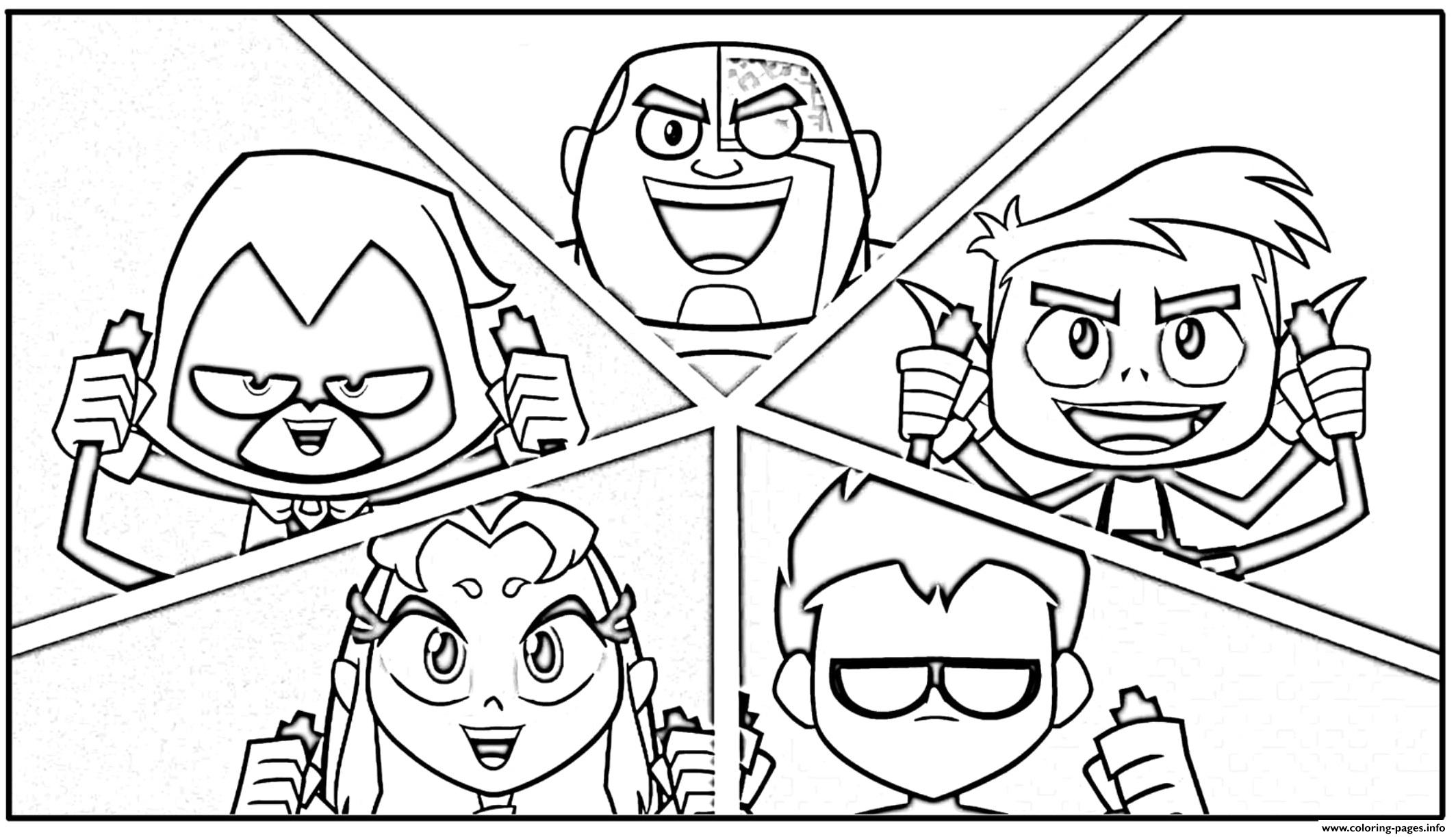Characters Teen Titans Go Coloring Pages Printable