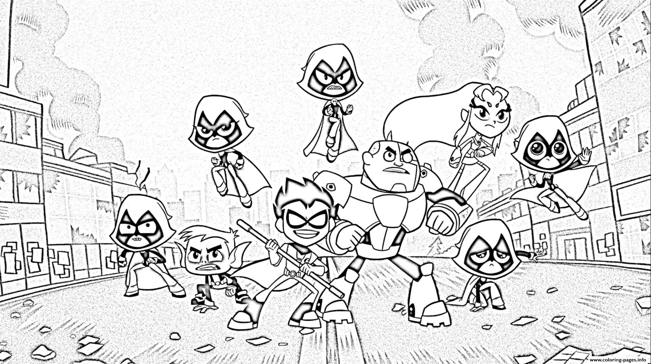 Teen Titans Go 3 Coloring Pages Printable