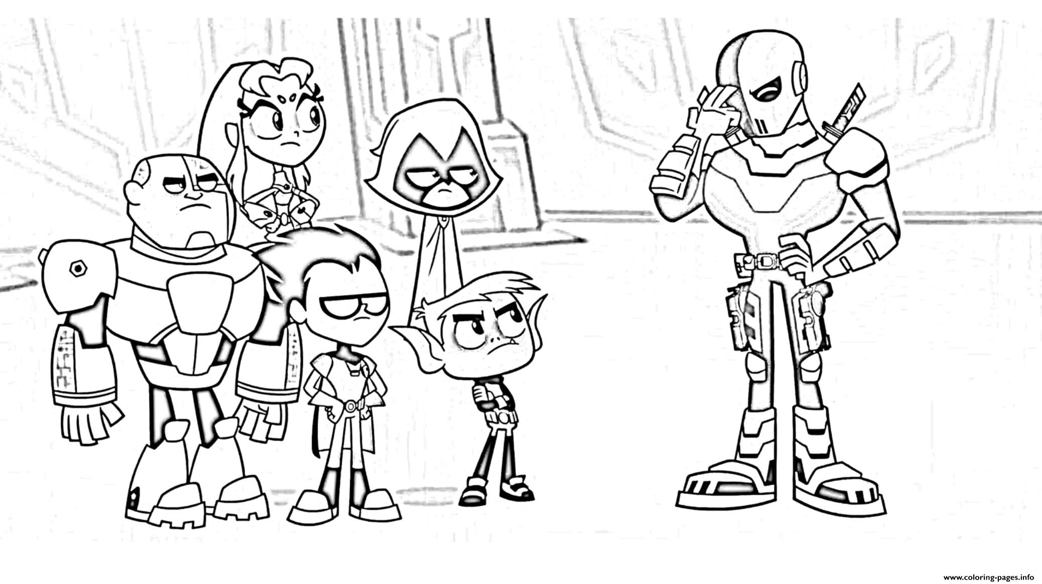 Teen Titans Go Cartoon Kids Coloring Pages Printable