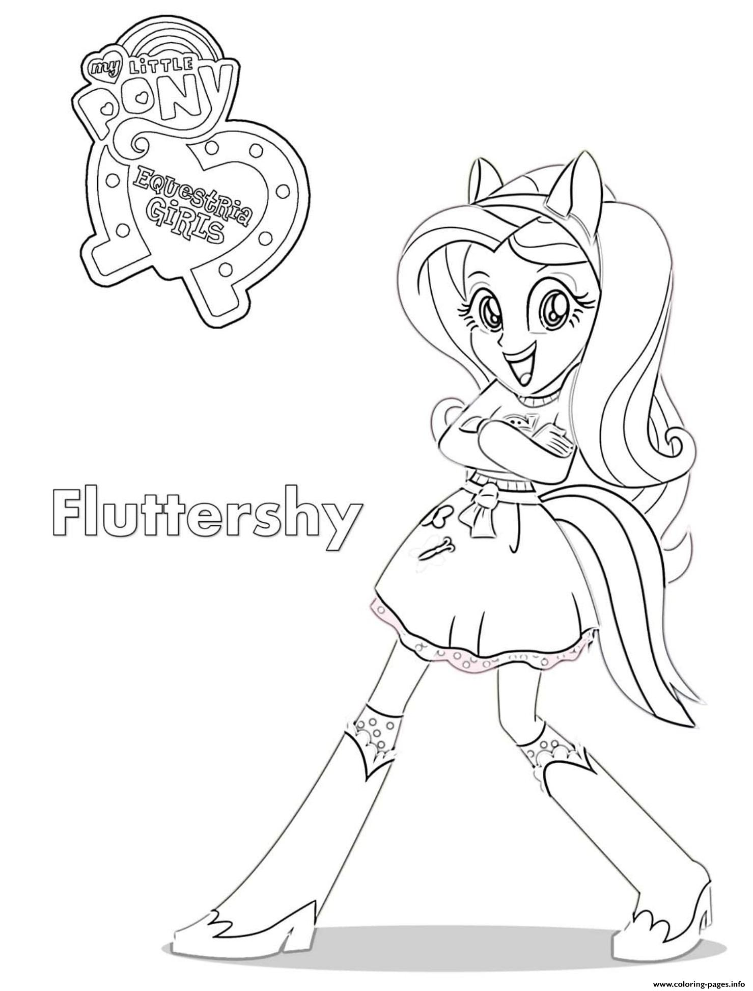 Equestria Girls Fluttershy Coloring