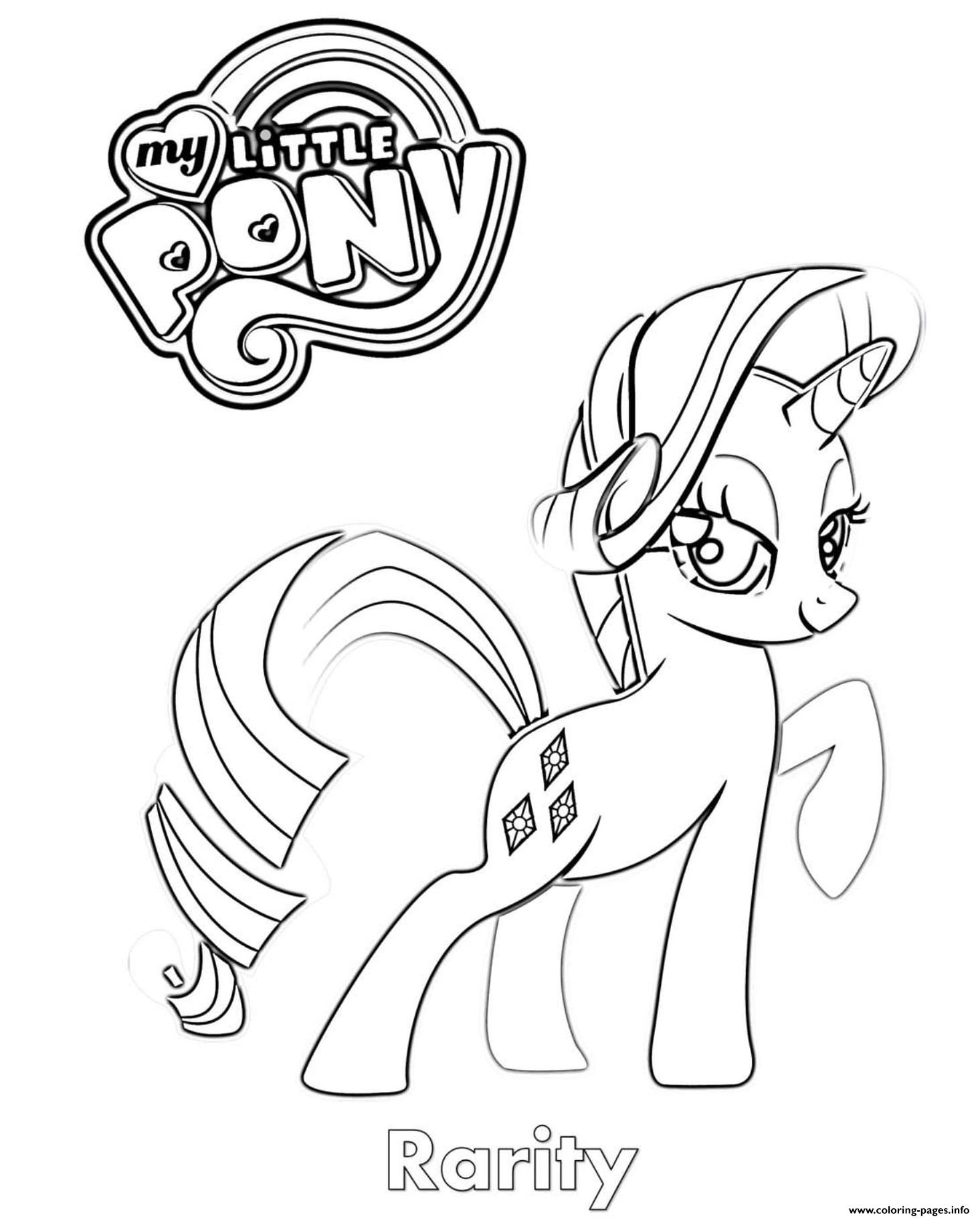 Rarity MLP coloring pages