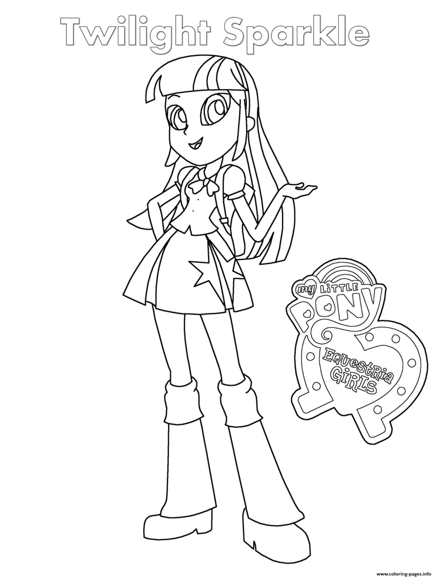 Equestria Girls Twilight Sparkle coloring pages