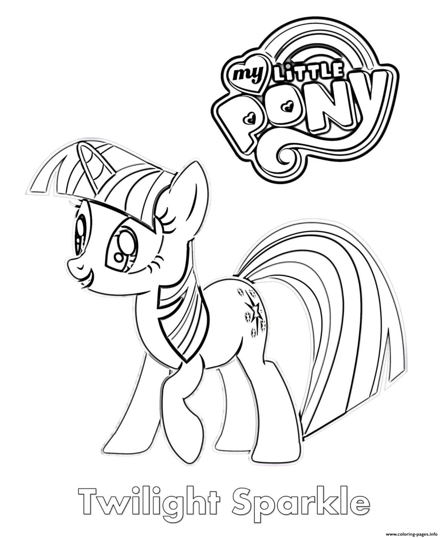 Twilight Sparkle Mlp Coloring Pages Printable