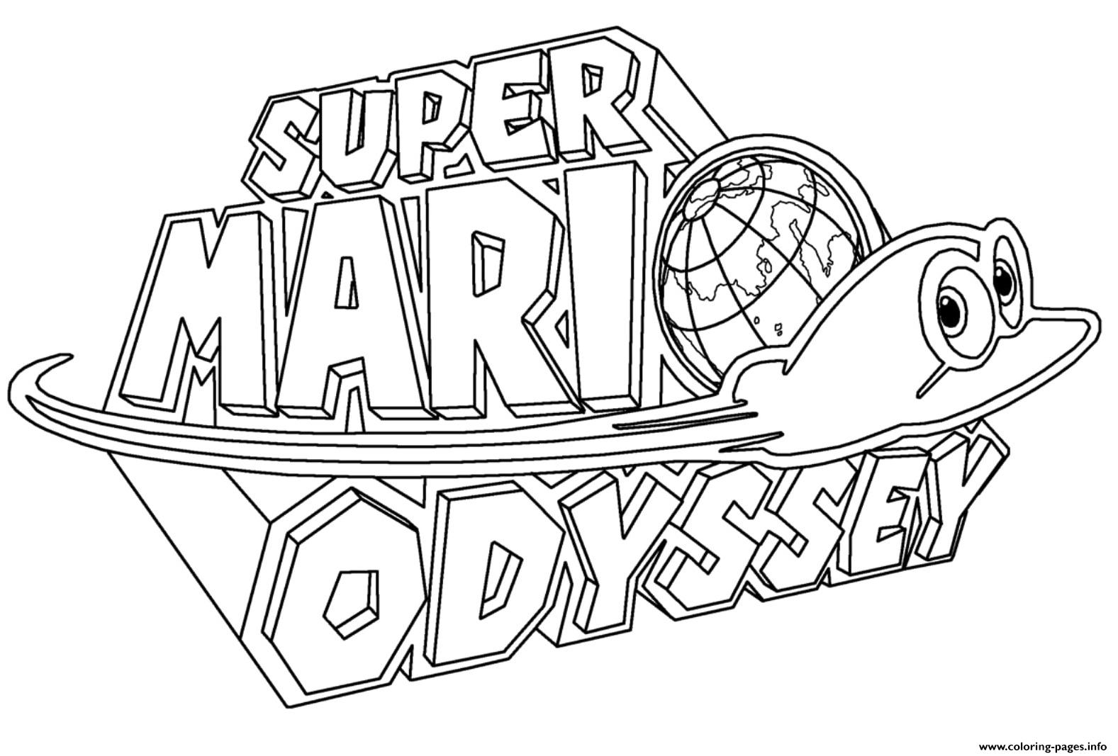 Super Mario Coloring Page 9ncm Super Mario Odyssey Coloring Pages