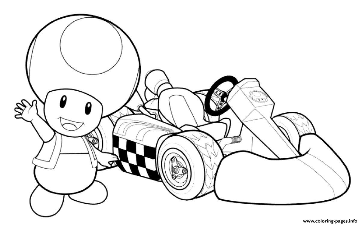 Toadette Mario Kart Coloring Pages Printable
