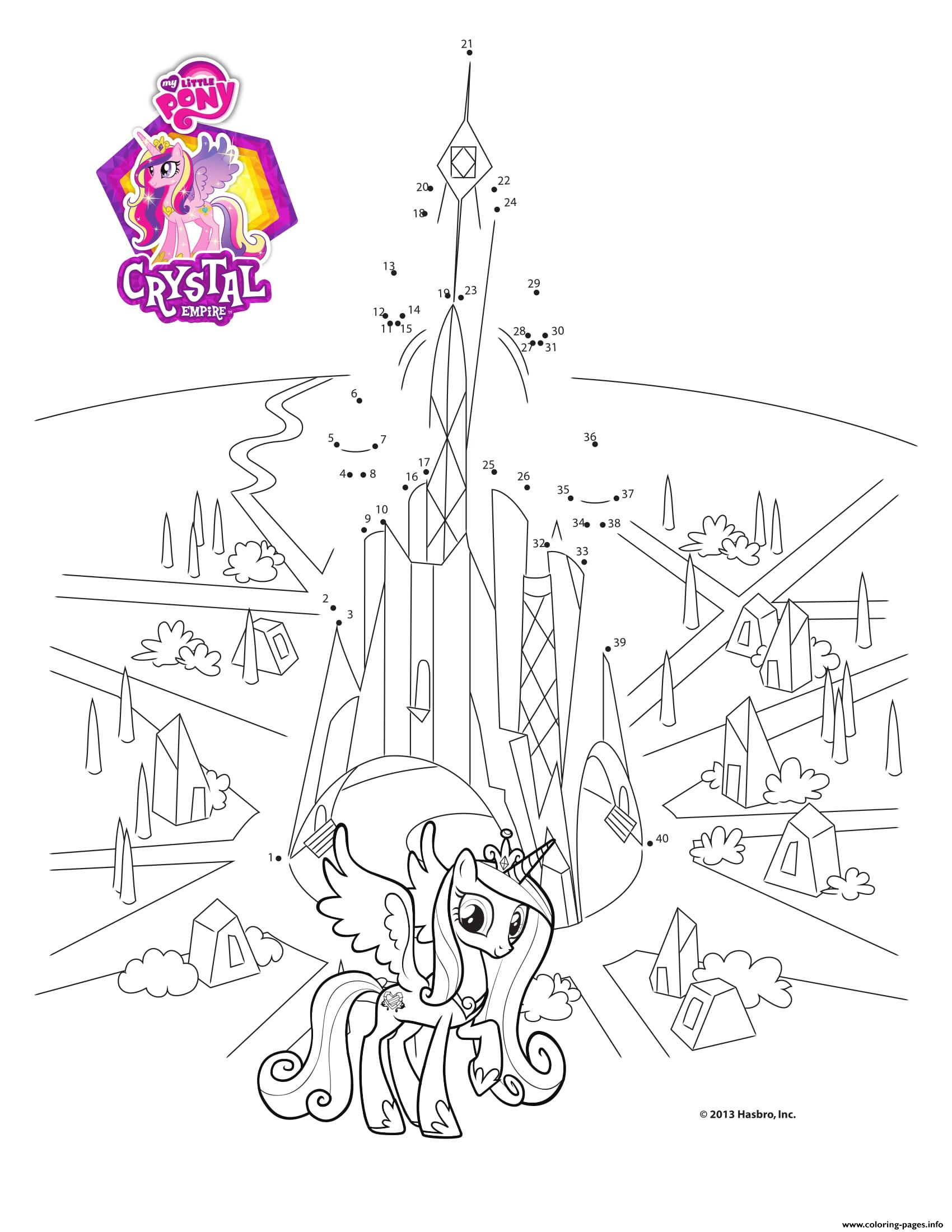 Connect The Dots Crystal Empire My Little Pony Coloring