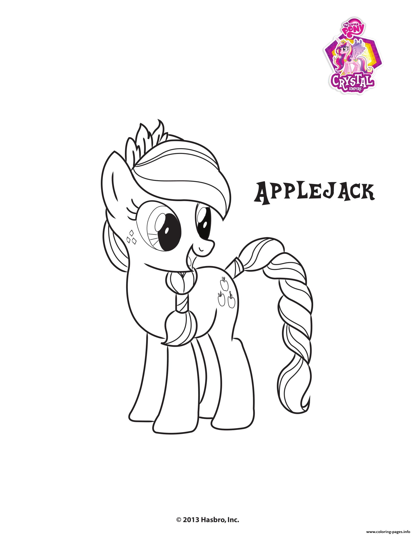 Applejack Crystal Empire My Little Pony Coloring Pages Printable