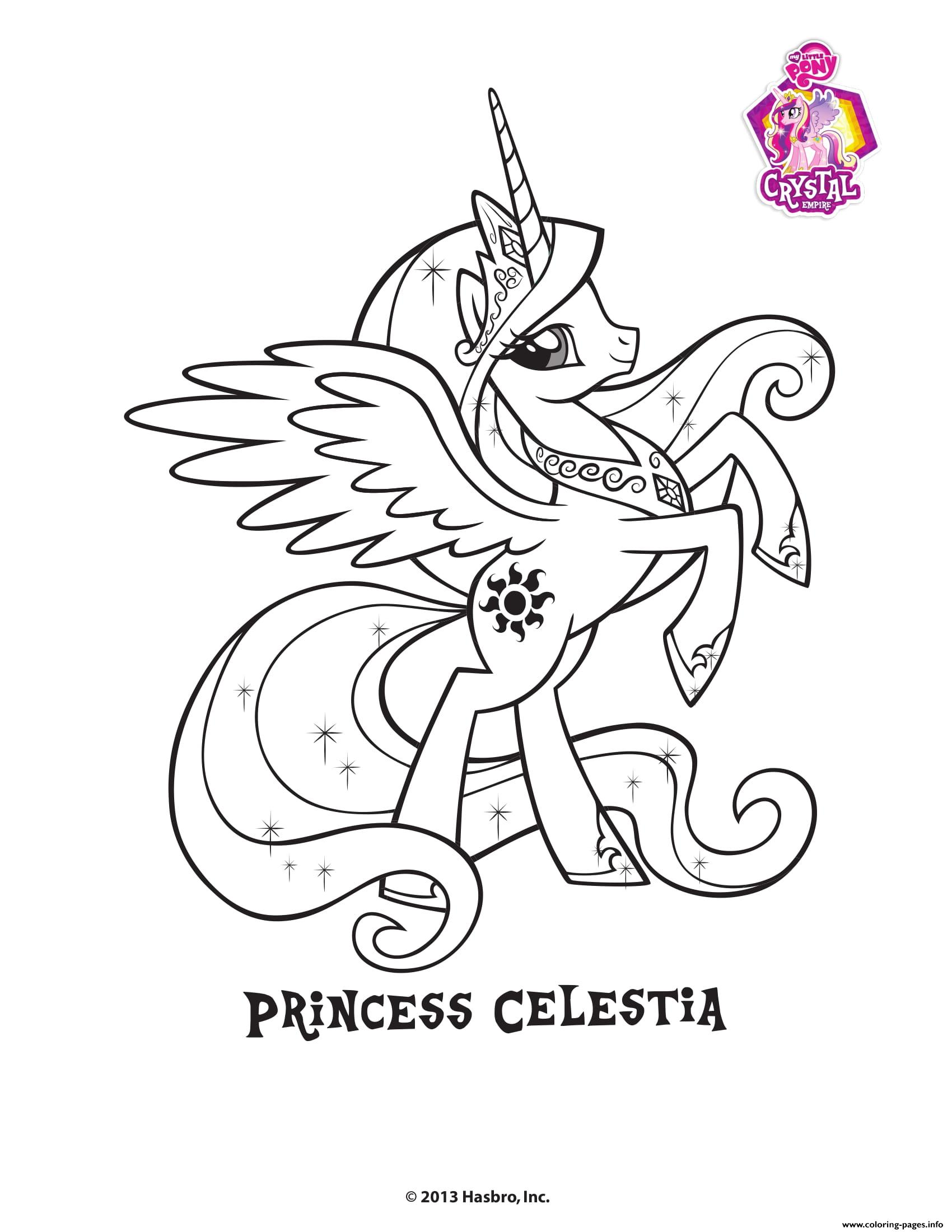 - Princess Celestra Crystal Empire My Little Pony Coloring Pages
