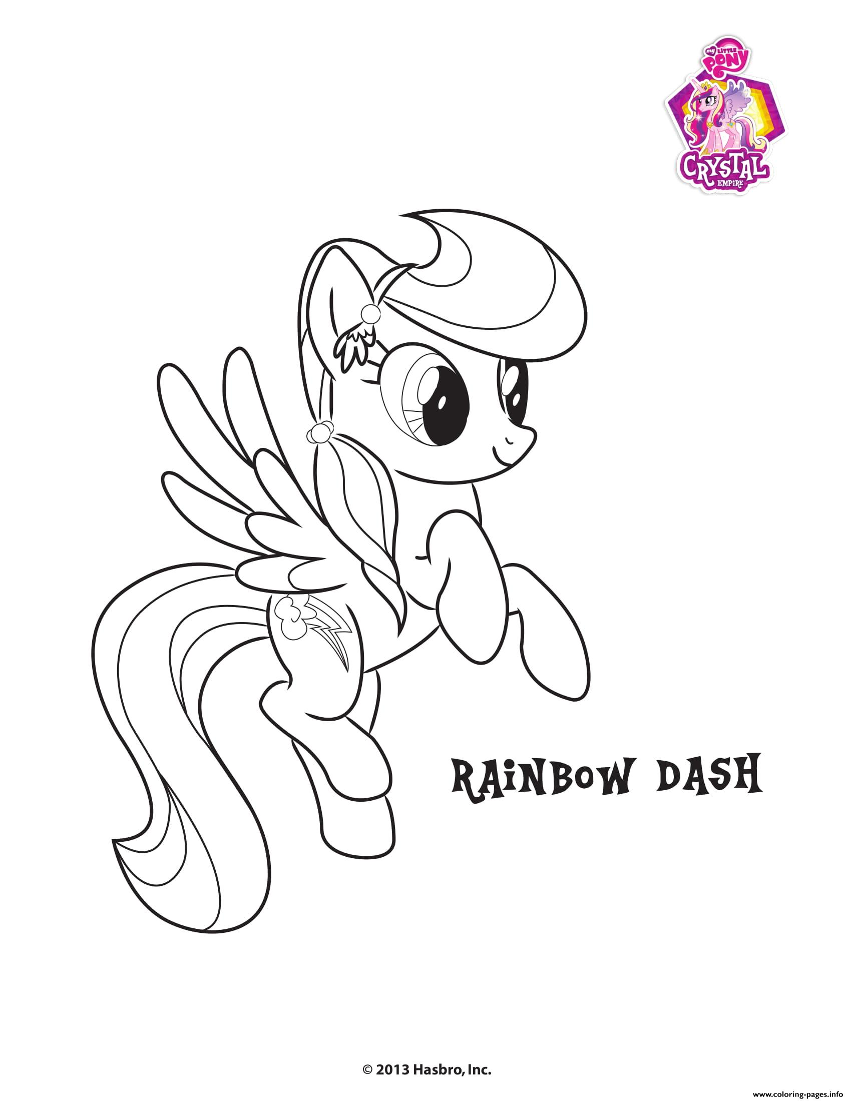 Rainbow Dash Crystal Empire My Little Pony Coloring Pages