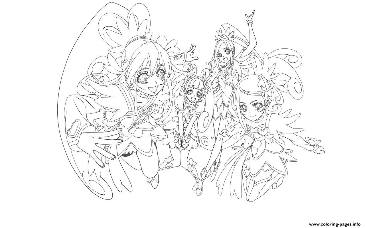 Glitter Force Doki Doki coloring pages