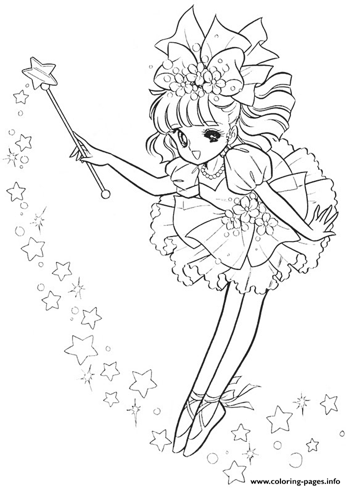 Glitter Force Magic Girl Coloring