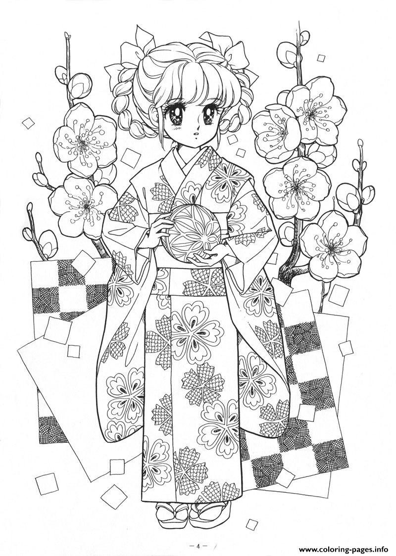 Glitter Force Asian Dress Cute coloring pages