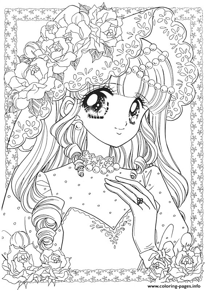 Glitter Force Cute Girl coloring pages