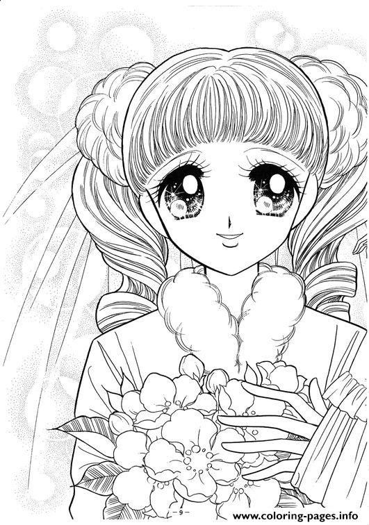 Glitter Force Happy Paradise Face Girl coloring pages