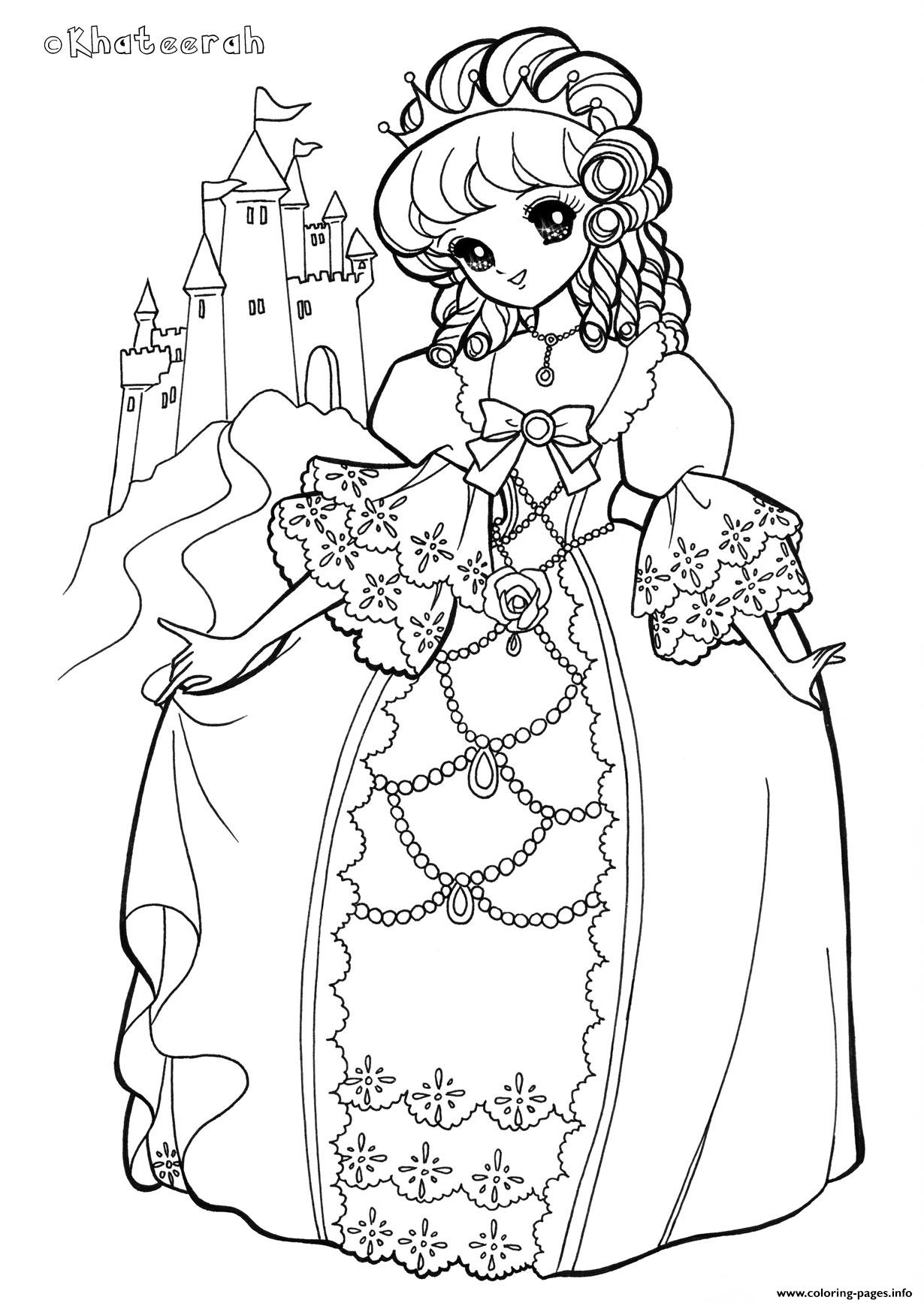 Glitter Force Kingdom Princess coloring pages