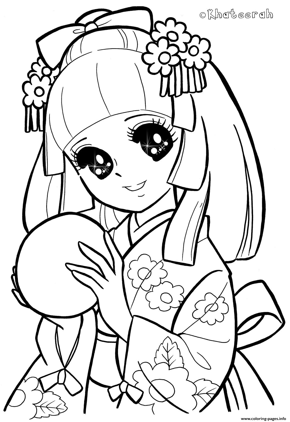 Glitter Force Manga Girl coloring pages