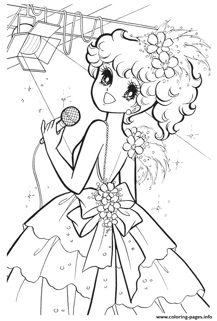Glitter Force Singer Star coloring pages