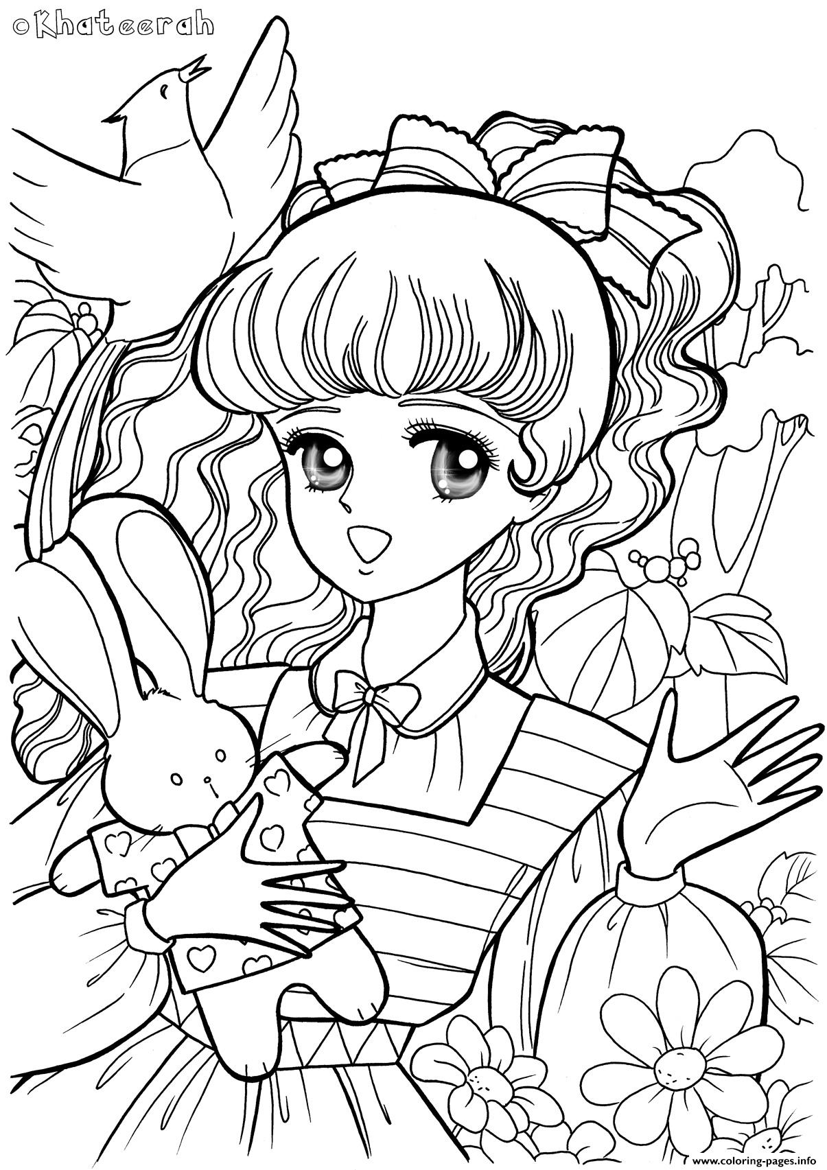 Glitter Force Rabbit Bird coloring pages