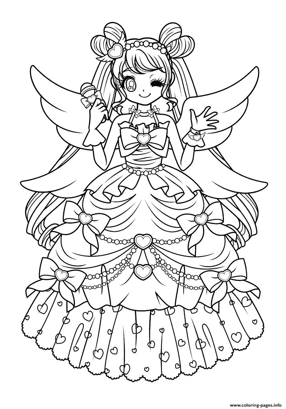 - Cute Glitter Force Anime Coloring Pages Printable