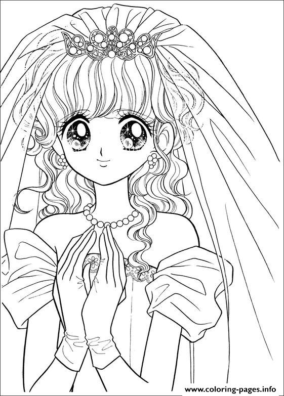 Glitter Force Happy Paradise Wedding coloring pages