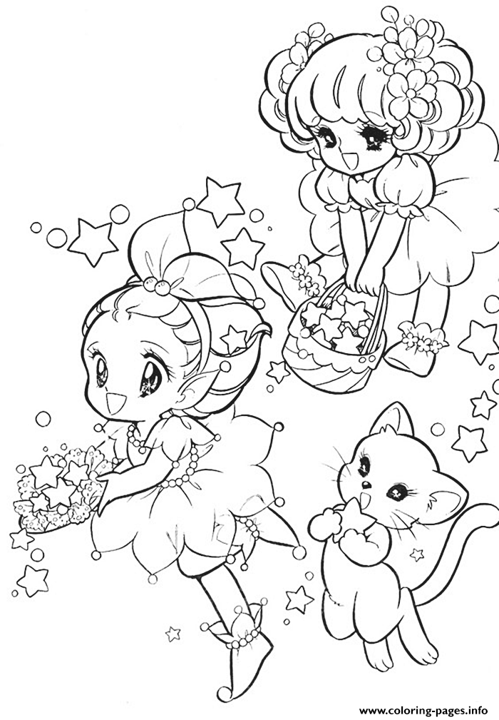 Glitter Force Fairy Cat coloring pages