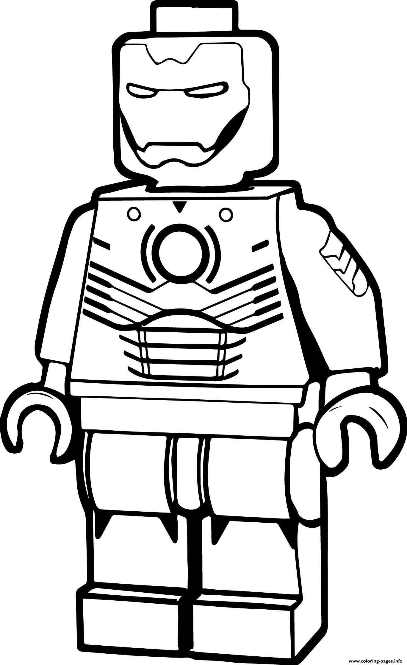 Lego Iron Man Cartoon Coloring