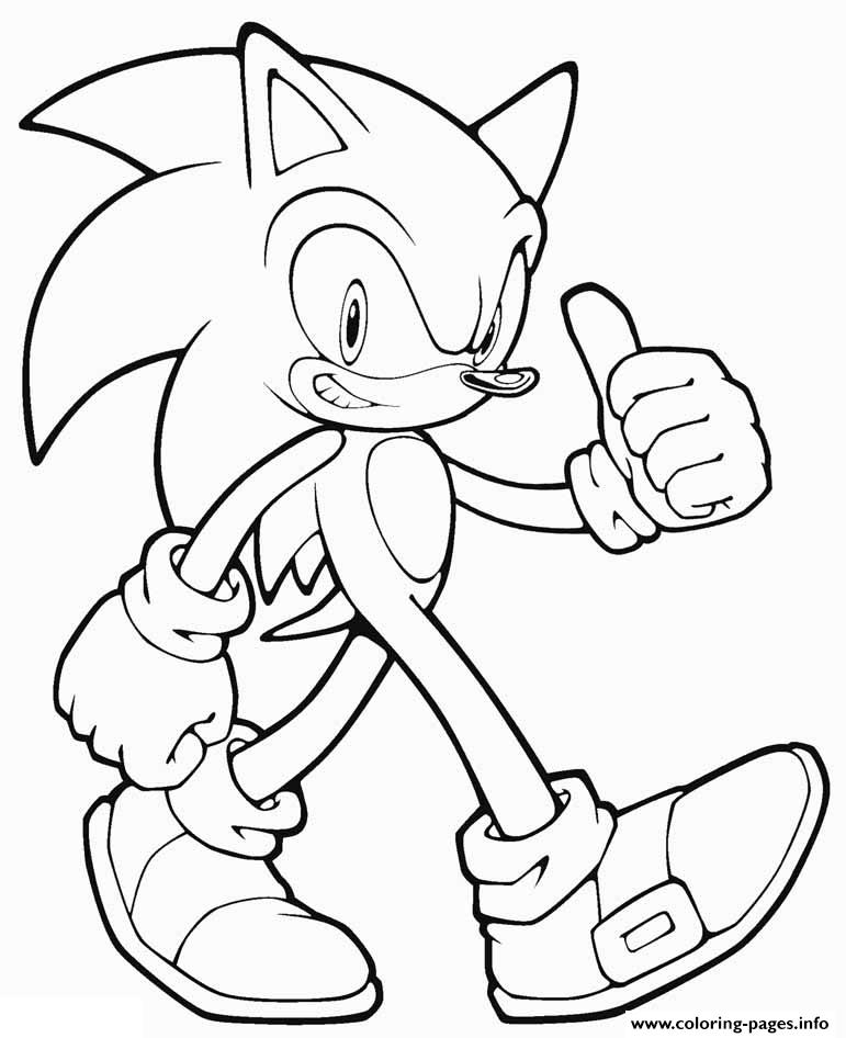 Sonic Cartoon Coloring Pages Printable