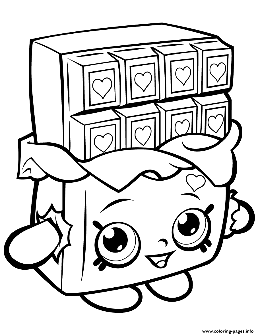 Chocolate Cheeky Shopkins Cartoon coloring pages