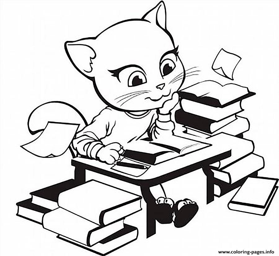 Angela Study Book Talking Tom coloring pages