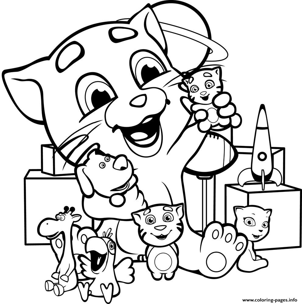 Baby Talking Tom coloring pages
