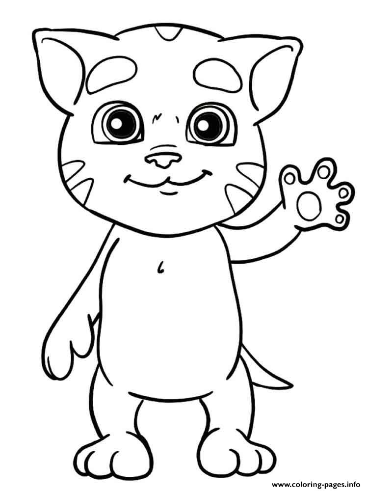 Mini Talking Tom coloring pages