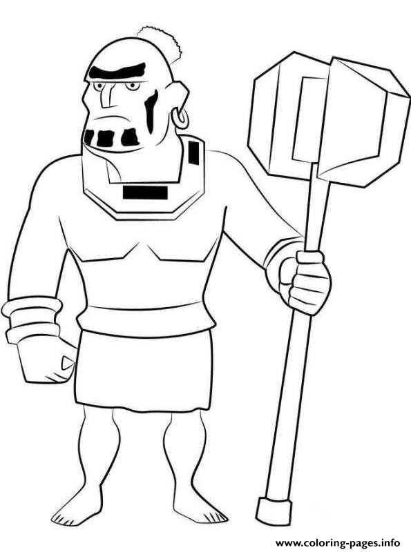 Boom Beach Warrior coloring pages